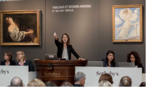 The sale room at Sotheby's Paris